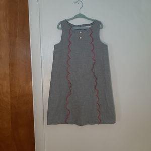 Janie & Jack Girls Gray Winter Dress Sz 6